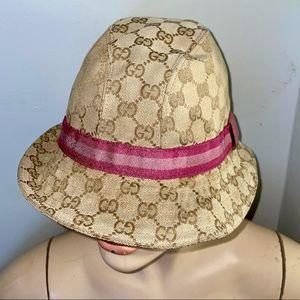 Vintage Gucci GG Logo Monogram Canvas Bucket Hat